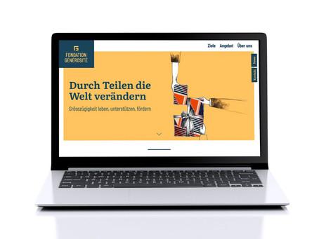 Neue Webseite fondation-g.ch ist online