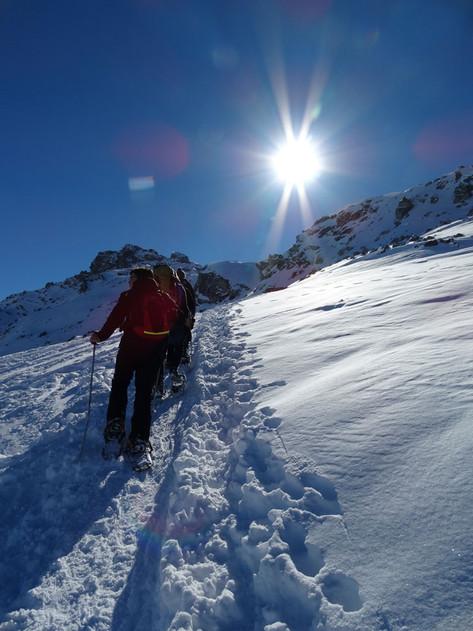 Schneeschuhtouren im Skigebiet