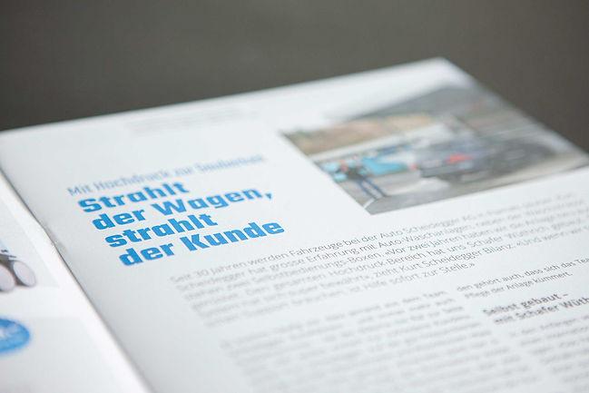 Schafer Wüthrich Kundenzeitschrift innen