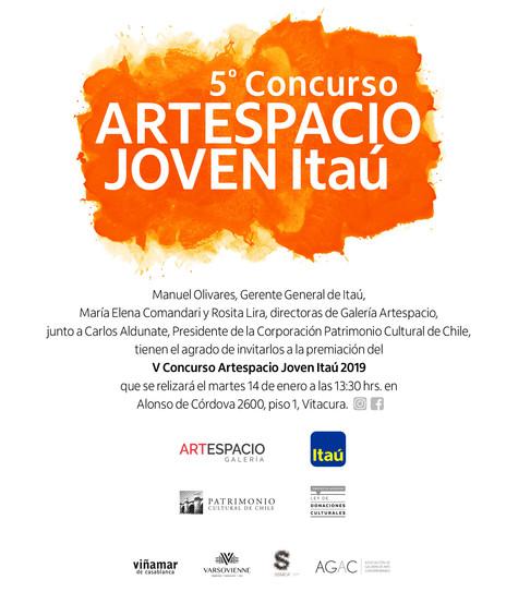 Inauguración exposición finalistas y ganadores del V Concurso Galería Artespacio Joven Itaú.