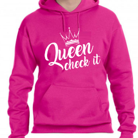 Queen Check It Hoodie