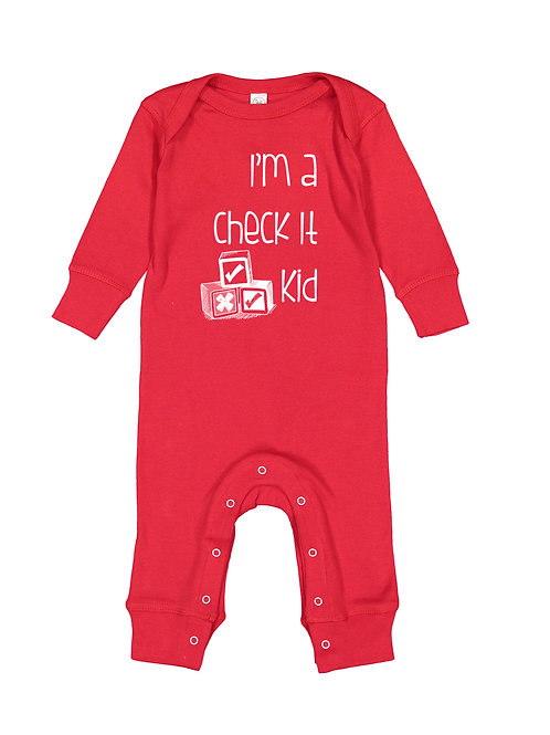 Check It Kid Long Sleeve Onesie