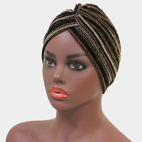 Glitter Knot Turban Hat