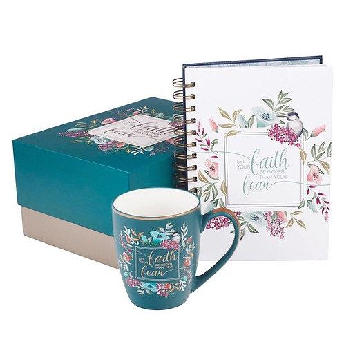 Faith Journal and Mug Gift Box