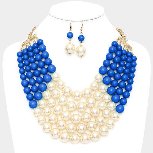 Chunky Multi Strand Necklace
