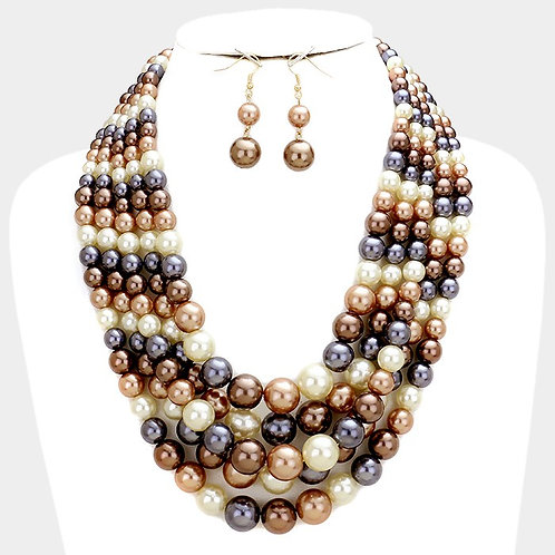 Five Row Strand Pearl Necklace