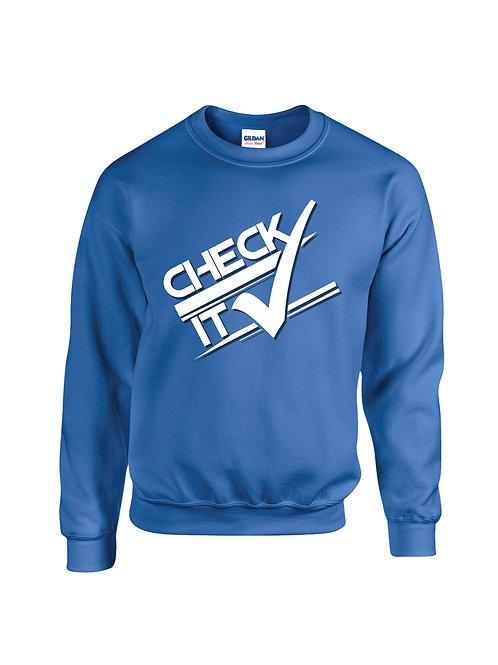 Boys Blue Retro Check it Sweater