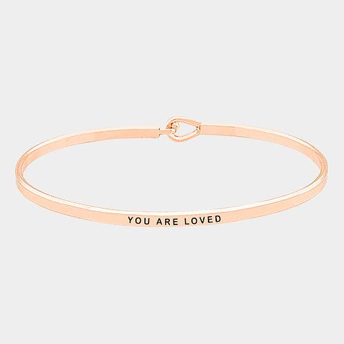 'You Are Loved' Delicate Hook Bracelet