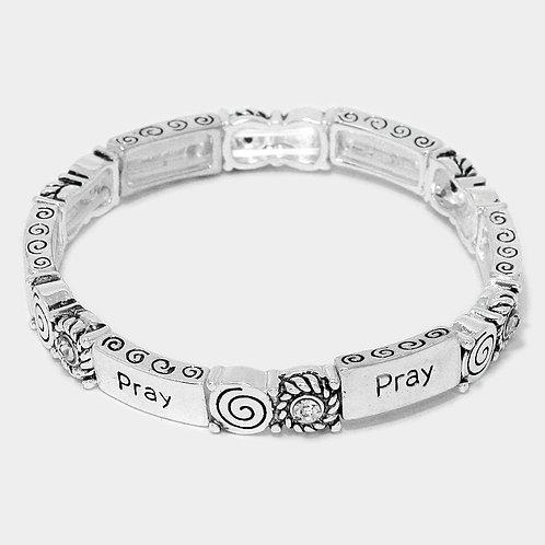 """Pray"" Message Stretch Bracelet"
