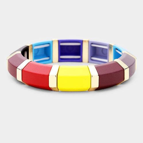Colorful Wood Stretch Bracelet