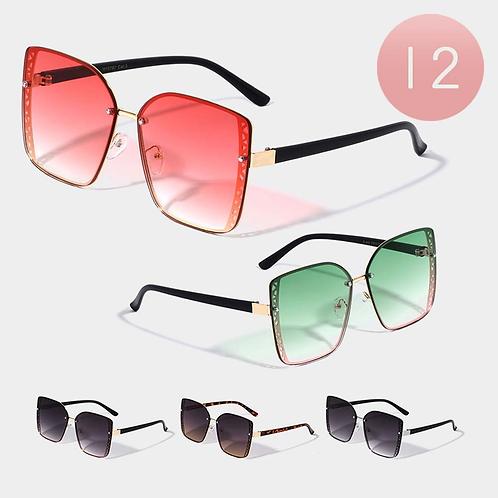 Chic Angular Frame Sunglasses