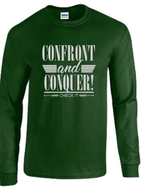 Confront & Conquer Long Sleeve Tee