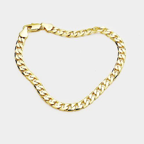 Men Gold Plated Metal Bracelets