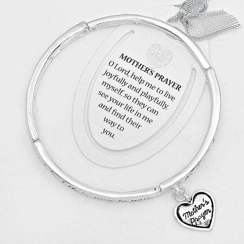 """""""Mother's prayer"""" Heart Bracelet"""