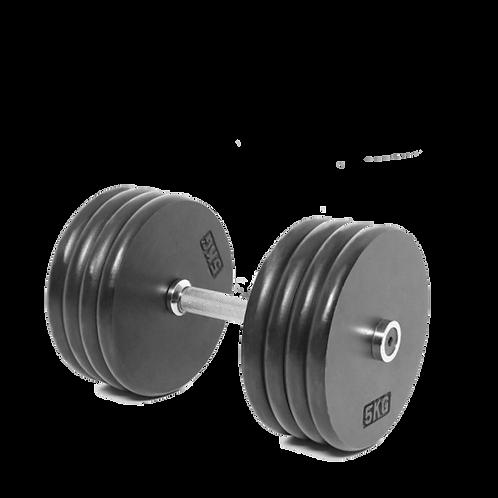Steelflex Rubber Dumbbells 45 kg/pair