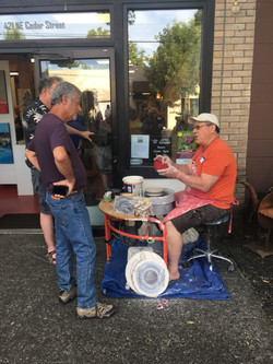 Wheel demo at The Attic Gallery