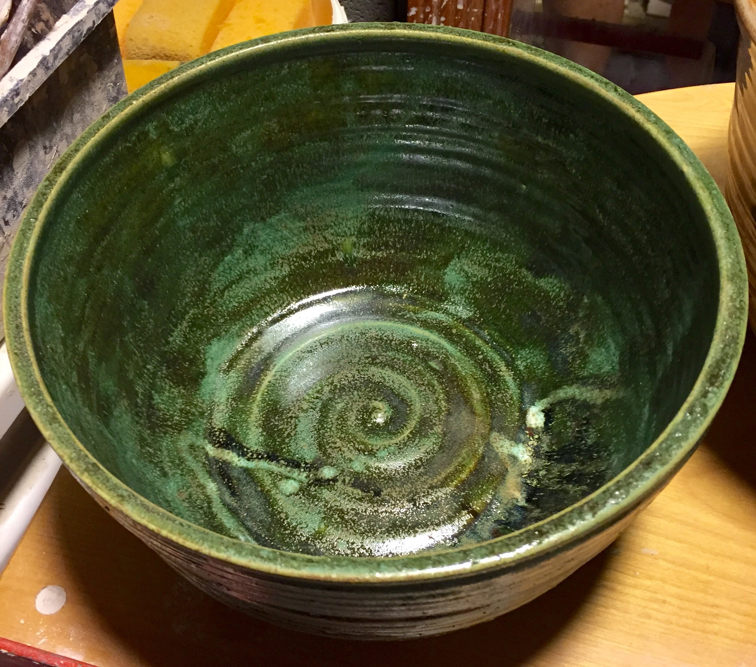 Medium Serving Bowl - custom glaze