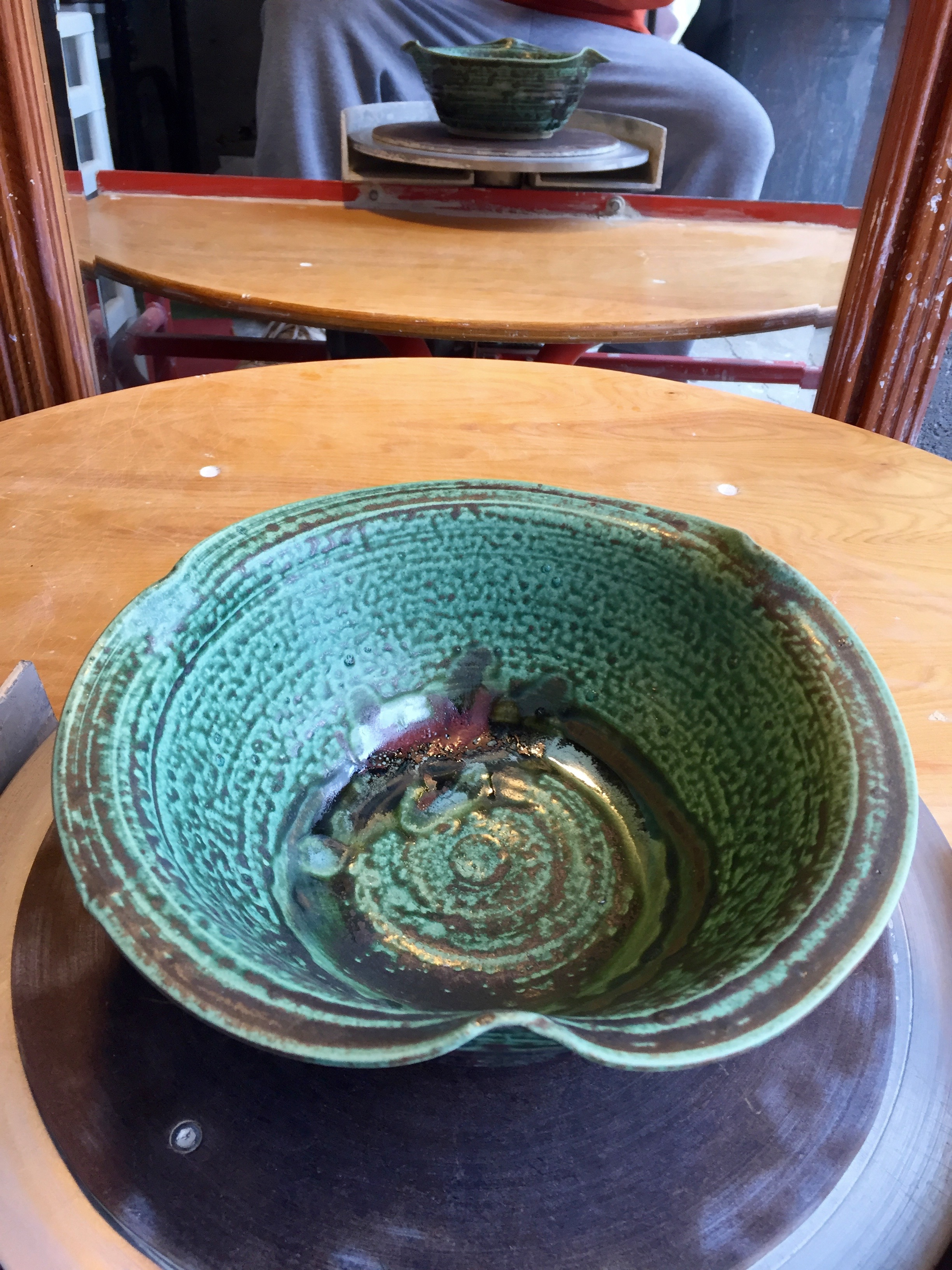 Serving Bowl - Emerald Wood Ash