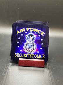 Hardboard Coaster with Security Police Badge (See below for details)