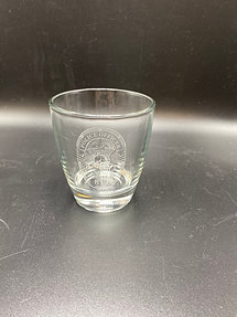 12 oz Glass - LPD Badge with Your Badge Number