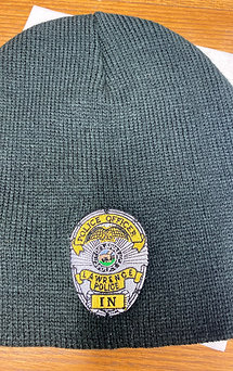 Fleece Lined Knit Cap or Beanie w/Badge Number