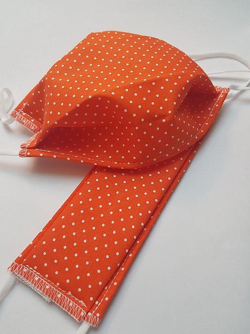 Masque tissu lavable à usage non sanitaire cat1 orange