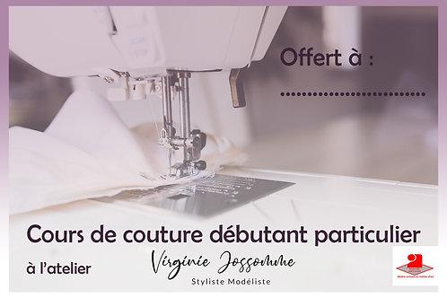 Carte cadeau Cours couture débutant à l'atelier à Ernée
