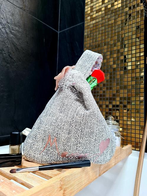 Pochette à main pièce unique modèle Chiné rose