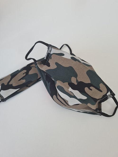 Masque tissu lavable à usage non sanitaire cat1 camouflage