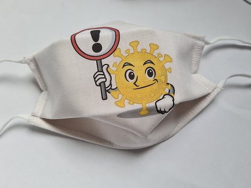 Masque tissu lavable à usage non sanitaire cat1 Virus5