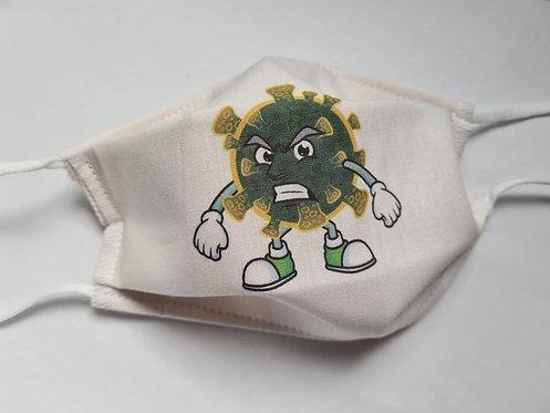 Masque tissu lavable à usage non sanitaire cat1 Virus6