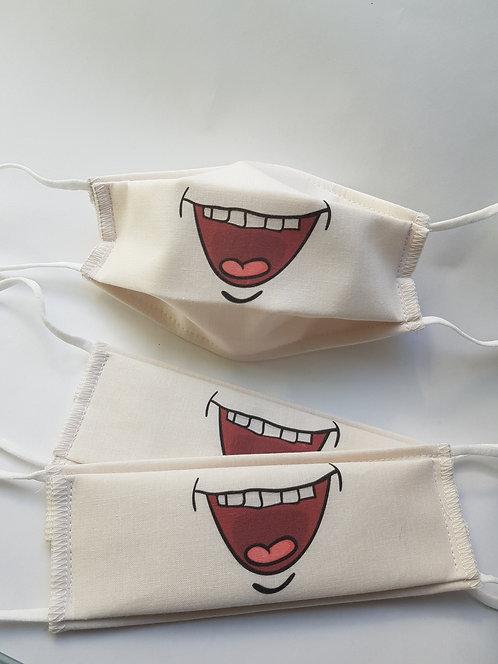 Masque tissu lavable à usage non sanitaire cat1  modèle3
