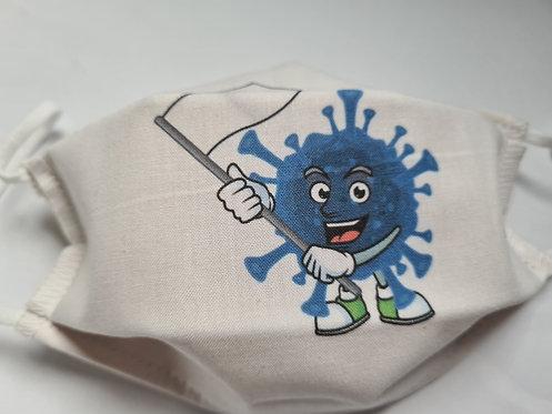 Masque tissu lavable à usage non sanitaire cat1 Virus3