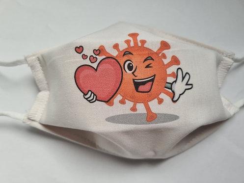 Masque tissu lavable à usage non sanitaire cat1 Virus1