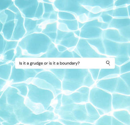 Is it a grudge or is it a boundary?