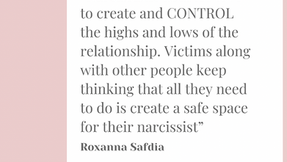 One of the issues and blind spot of narcissistic abuse is that: