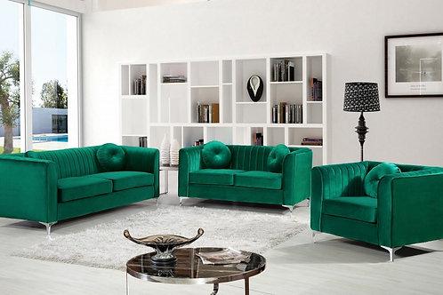 SHAHI-Canadian Made Velvet Sofa Set