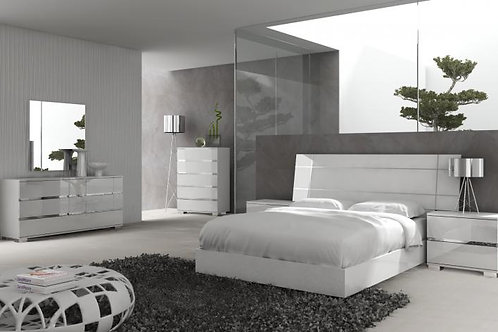 Mega Dream white  8pieces complete bedroom suite
