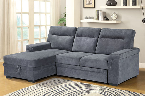 Helan Sofa Bed with storage chaise