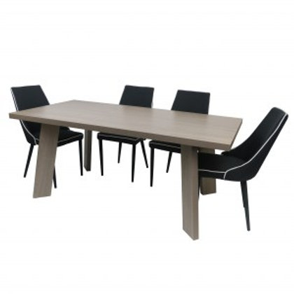 LONDON Table and 6 Chairs