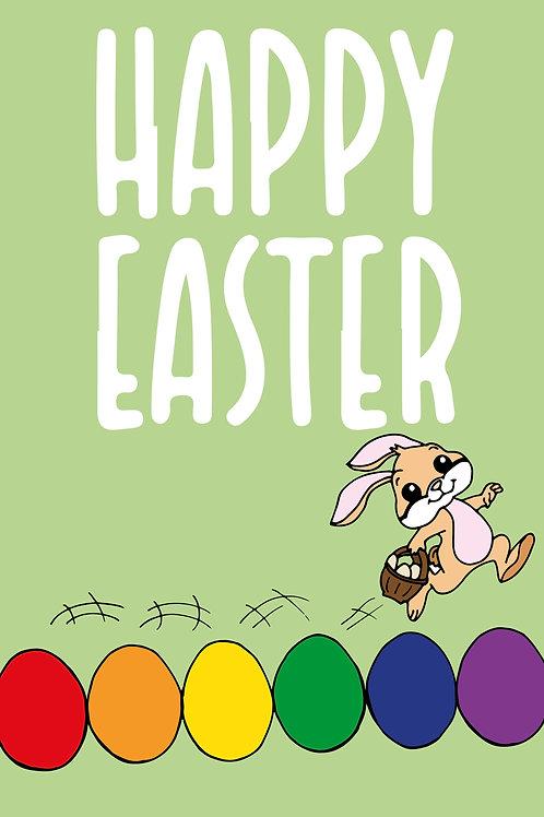 Hopping Bunny Easter Card