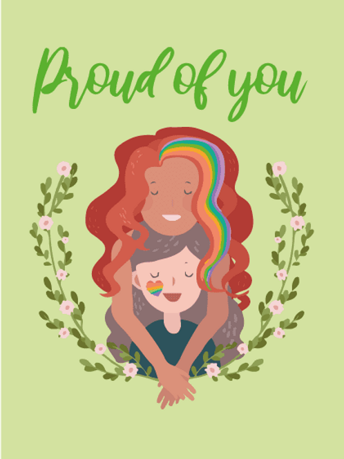 Proud Mother and Daughter Card
