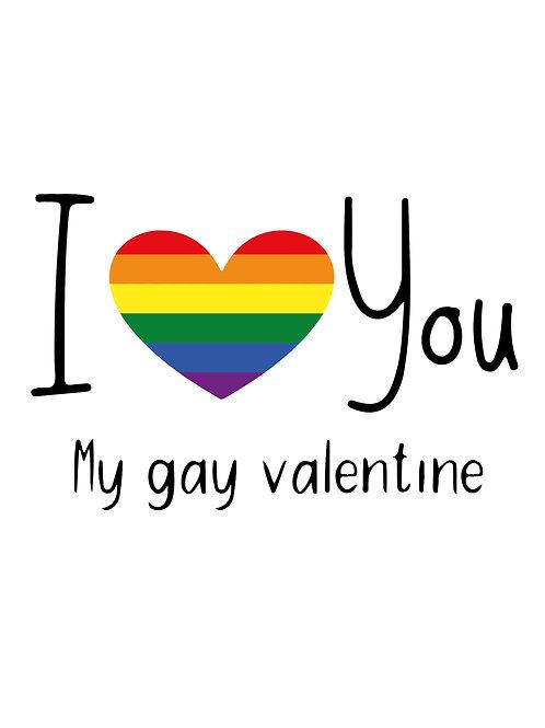 Love Gay Valentine Card