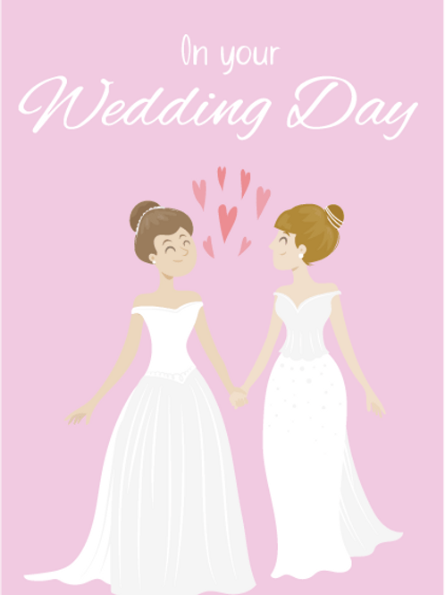 Two Brides Animation Card