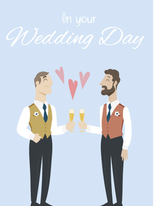 Two Grooms Animation Card
