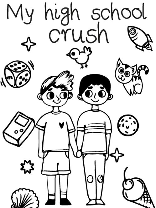 Highschool Boy Crush Card
