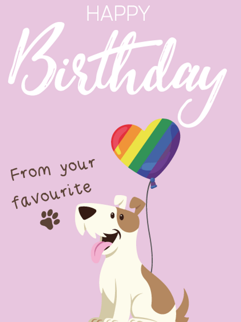 Terrier Birthday Card
