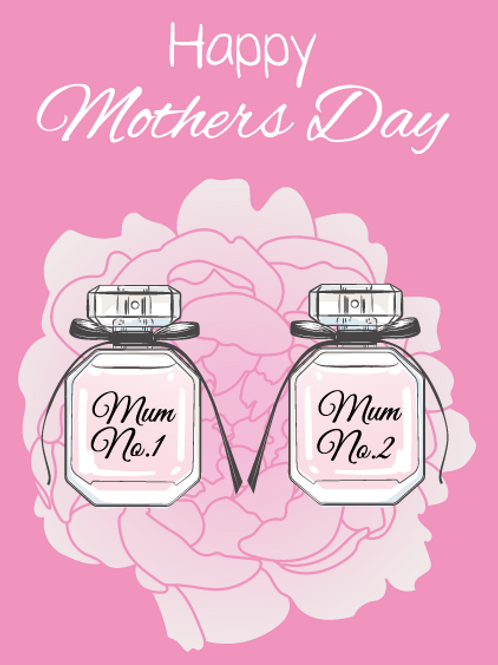 Perfume Mums Card