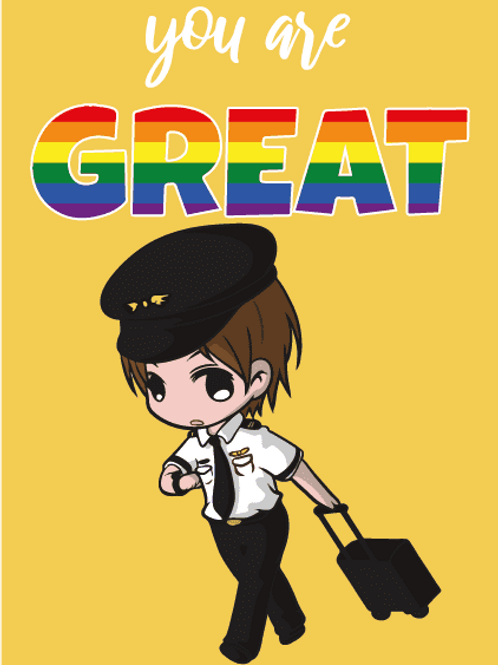 You're Great LGBTQ+ Pilot Card