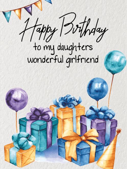 Daughter's Girlfriend's Birthday